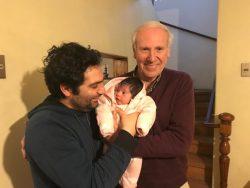 Profesor Cristóbal Rojas con su padre, Profesor Jorge Rojas.